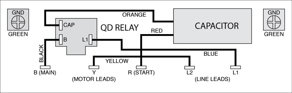 Well Pump Control Box Wiring Diagram:  Single-Phase Motors and Controls ,Design