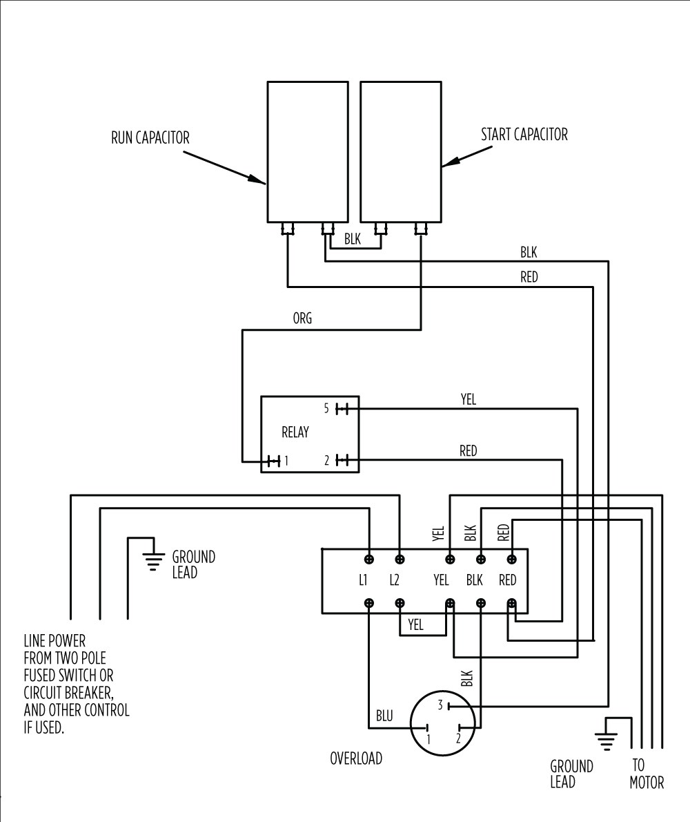 aim manual page 54 single phase motors and controls motor rh franklinwater com dayton 2 hp motor wiring dayton 2 hp motor wiring