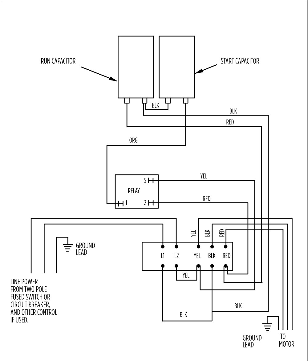 aim manual page 54 single phase motors and controls motor  franklin electric control box wiring diagram #6
