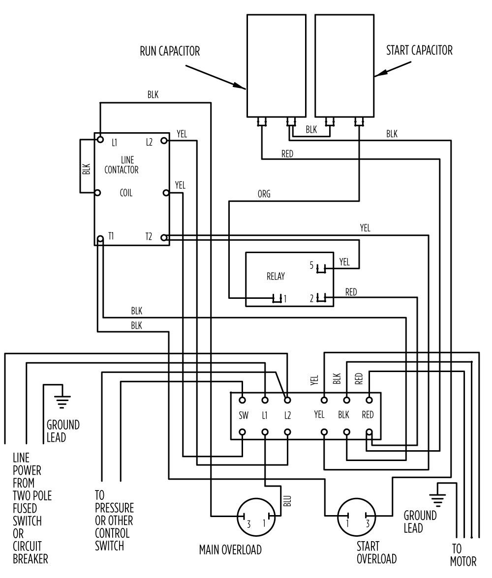 Aim Manual Page 55 Single Phase Motors And Controls Motor 3 Switch Box Wiring Diagram 2 Hp Deluxe 282 301 8310