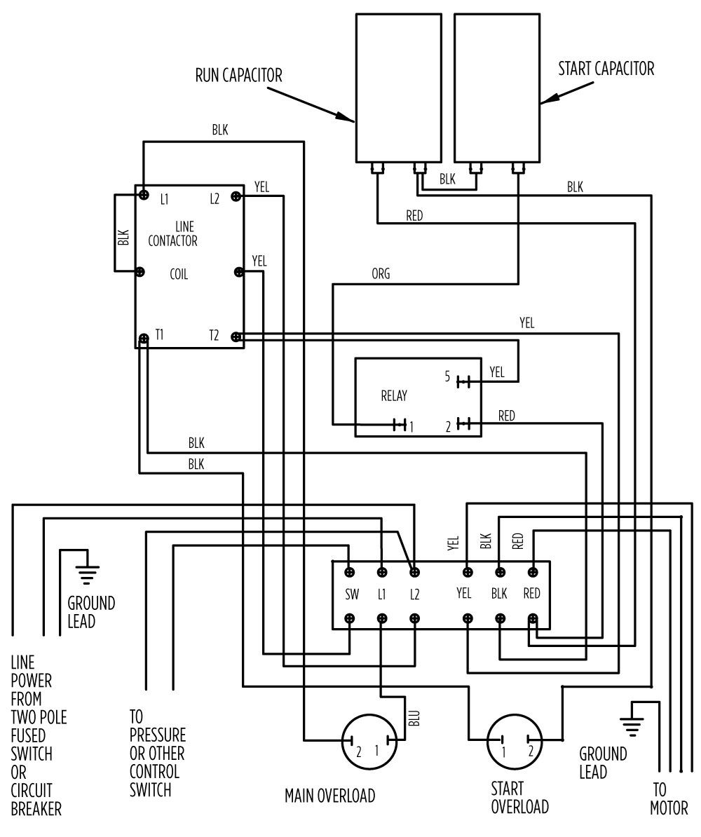 basic wiring diagrams for electrical junction box aim manual page 55 single phase motors and controls motor  single phase motors and controls