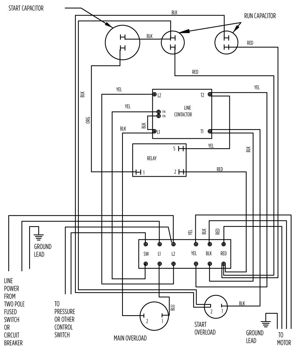 Aim Manual Page 56 Single Phase Motors And Controls Motor Wiring Diagram 5 Hp Deluxe 282 113 8310 Or 9310