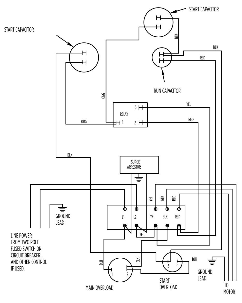 Aim Manual Page 56 Single Phase Motors And Controls Motor 1 Pole Wiring Diagram 75 Hp Standard 282 201 9210