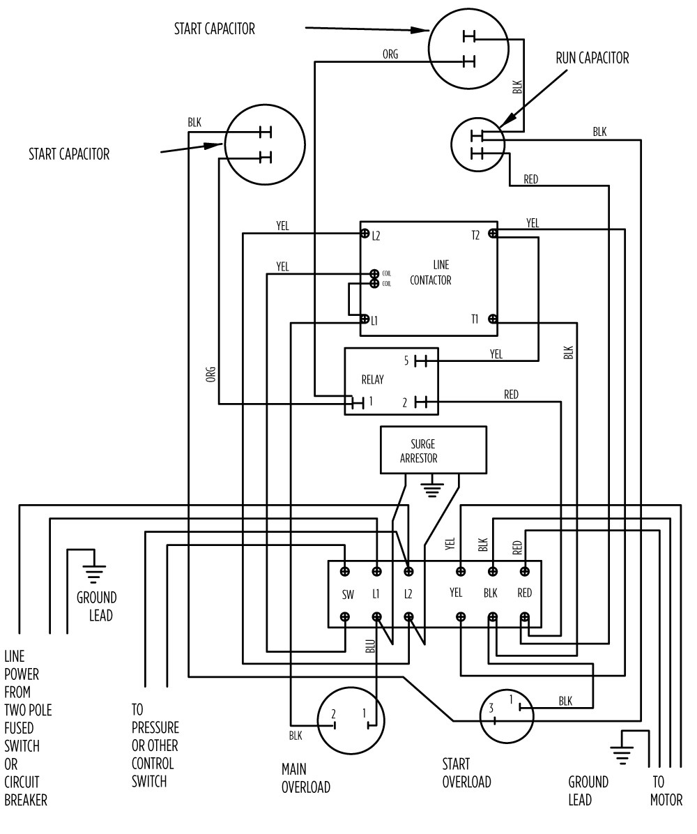 franklin electric 12 hp motor wiring diagram