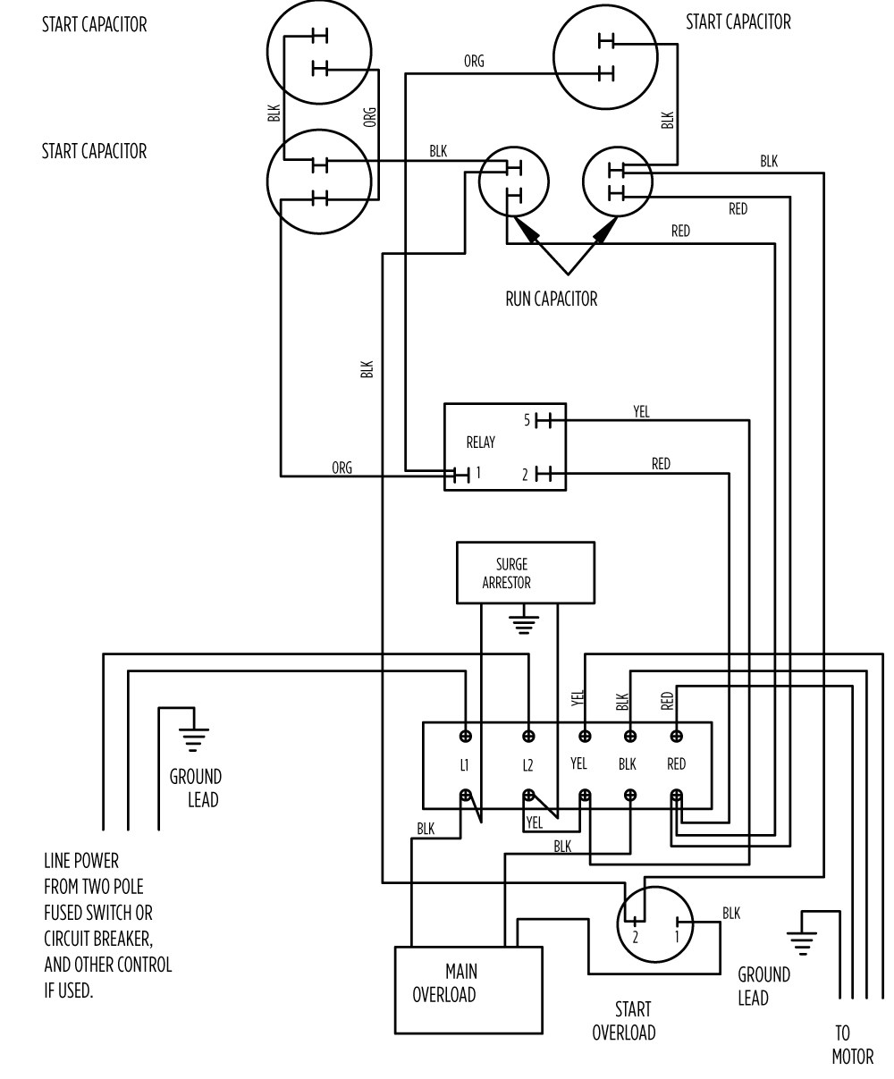 aim manual page 57 single phase motors and controls motor rh franklinwater com 220V Plug Wiring 220 Well Pump Wiring Diagram