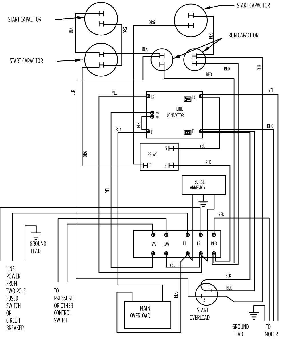 3 Wire Pump Motor Schematic Wiring Library 220v Well Diagram Free Download Diagrams Pictures 220 Embellishment 10 Hp Deluxe 282 202 9230 Or 9330