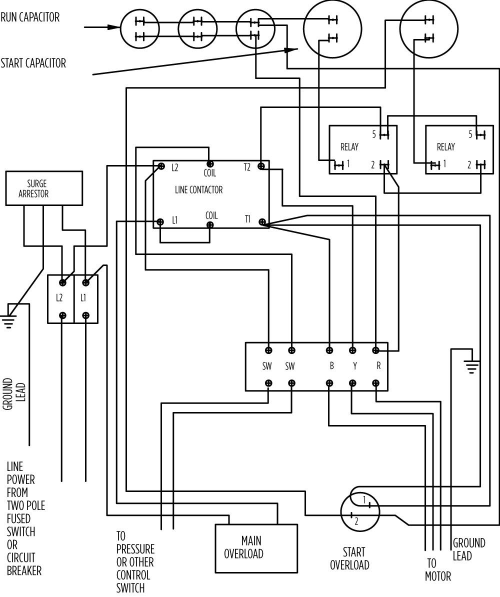 [CSDW_4250]   AIM Manual - Page 57 | Single-Phase Motors and Controls | Motor Maintenance  | North America Water | Franklin Electric | Franklin Electric Fan Motor Wiring Diagrams |  | Franklin Electric
