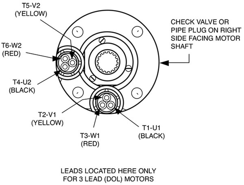 aim manual page 35 three phase motors motor application Three Phase Controller Wiring Diagram line connections \u2014 six lead motors